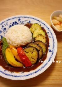 牛スジ肉の夏野菜カレー