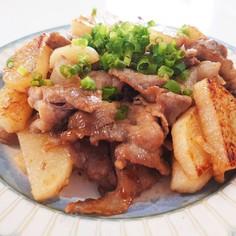豚細切れと長芋のニンニクオイ炒め