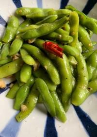 枝豆のペペロンチーノ