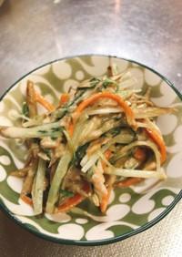 ゴボウと水菜のツナマヨ炒め