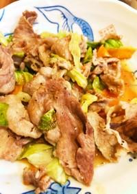 シャンタンとニンニク野菜炒め
