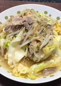 肉ともやしの炒め煮!(^^)!