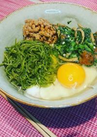 納豆めかぶ蕎麦