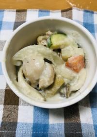 バナナ風味☆夏野菜と鶏のココナッツ煮込み