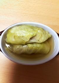 カレースープのロールキャベツ