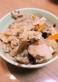 鶏肉とゴボウの炊き込みご飯