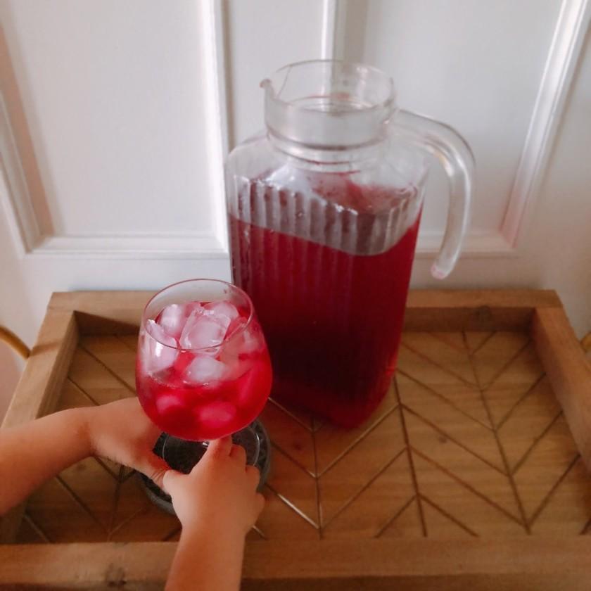 子どもと旬を楽しむ 赤しそジュース