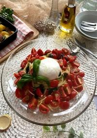 トマトとブッラータのクルダイオーラ