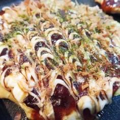 明太チーズでトロトロお好み焼き♪