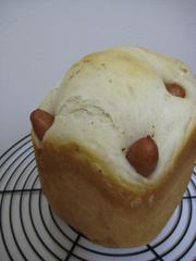 HBで❤手抜きウィンナーパン(早焼き)の写真