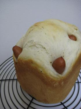 HBで❤手抜きウィンナーパン(早焼き)