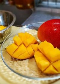 マンゴーの切り方と簡単生マンゴーブール