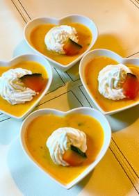 南瓜の煮物をリメイク♪かぼちゃ豆乳プリン