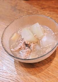 冬瓜と豚ひき肉のスープ