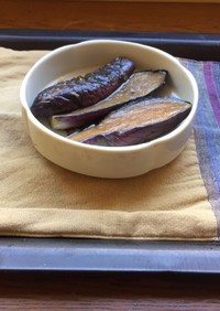 茄子の揚げ浸し麺つゆ漬け