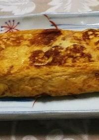 さんまの蒲焼きと野菜の鰻巻き卵風