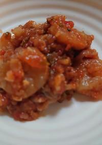 トマト缶と七味唐辛子で作るエビチリ