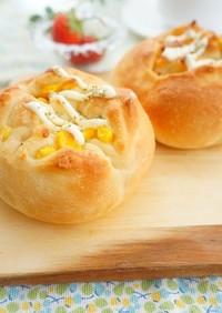 コーンマヨミニフランスパン