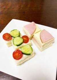プチケーキ風♡ティーサンド