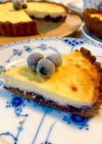 爽やかブルーベリーのリコッタチーズタルト