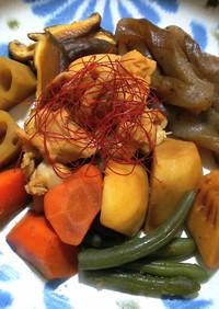 レンジで簡単◎冷凍和風野菜のお煮しめ