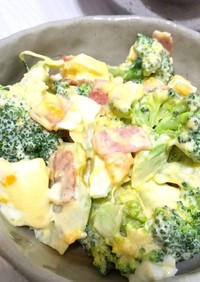 低糖質 ブロッコリーと茹で卵のマヨ和え