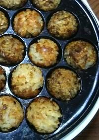 たこ焼き器で炊き込みご飯のライスボール