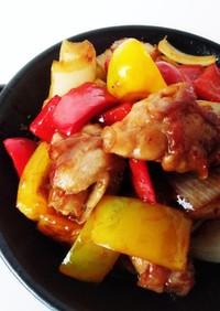 簡単酢豚ばら肉とスィートチリソース