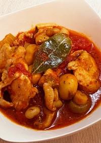 簡単時短☆鶏ムネ肉とセロリのトマト煮込み