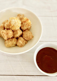 鶏ミンチと豆腐のナゲット&BBQソース風