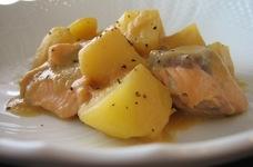 ❋鮭とじゃがいもの味噌バター煮❋