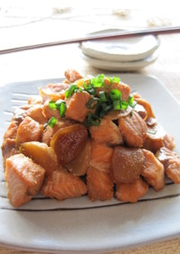 鮭のはちみつ煮
