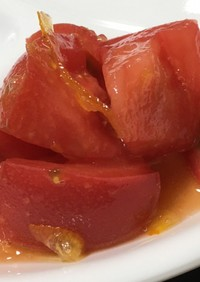 簡単すぎる一品 トマトのマーマレード和え