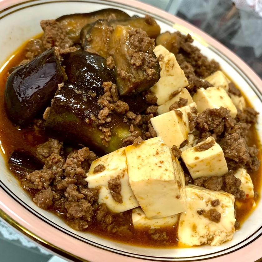 超簡単♥欲張り麻婆茄子&麻婆豆腐♥♥♥