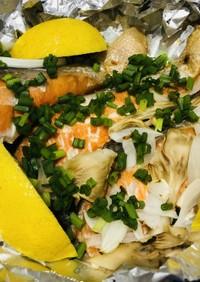 トースターで簡単☆鮭のホイル焼き