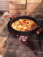 【キャンプ飯】お父さんの簡単パエリアの写真