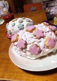 ひな祭りケーキ(ドーム型)