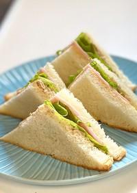 定番!ハムとツナマヨのサンドイッチ