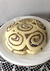 カフェオレミルクもちのドームケーキ