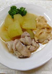 冬瓜と鶏肉・板麩の煮物