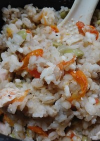 トマト枝豆のチキン飯(簡単)