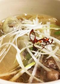 【圧力鍋】IHであっさりテールスープ
