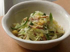 簡単♪キャベツとツナのボイルサラダ