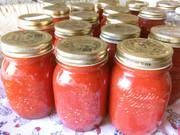 自家製トマトソースの写真