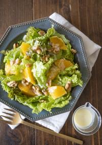 オレンジサラダ簡単ヨーグルトドレッシング