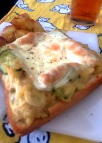 ポテトサラダで作る良くあるエッグトースト