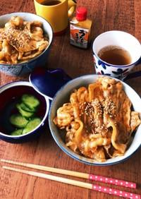 簡単!うなぎのタレでアレンジ♪甘辛豚丼!