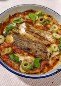 鯛のトマトチーズグラタン