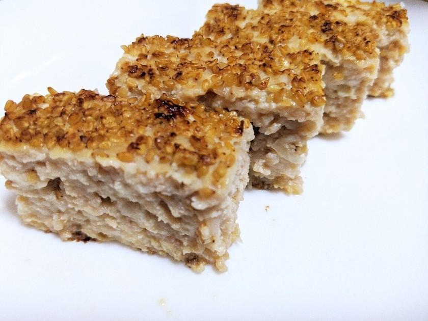 フライパンで豆腐入りふわふわ松風焼き