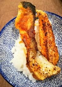 鮭ハラス切り落とし焼きと白ご飯
